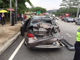 Sand lorry Jalan Duta accident 2