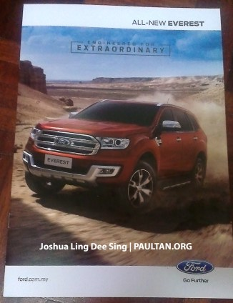 2016 Ford Everest Malaysia brochure 1