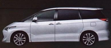 2016 Toyota Previa/Estima facelift - new interior pics