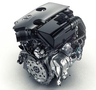 Infiniti four-cylinder turbocharged gasoline VC-T engine