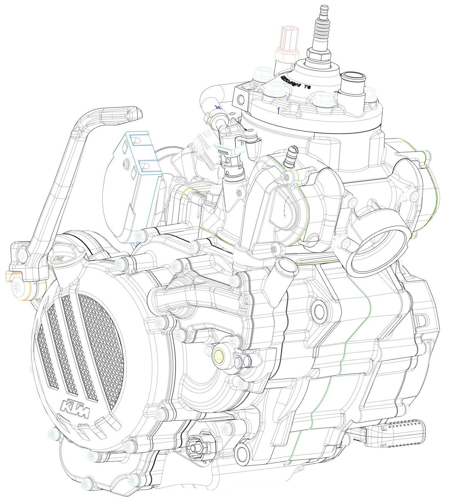 Ktm Unveils New Two Stroke Fuel Injection Engine