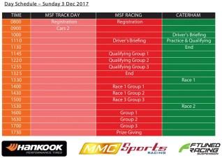 MSF Finale 2017 schedule 2