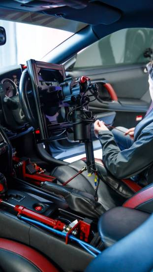 LONDON (Oct. 10, 2017) – Nissan has created the ultimate remote-control car for gamers – the Nissan GT-R /C. Celebrating the release of Gran Turismo Sport – and marking 20 years of Nissan involvement in the Gran Turismo gaming series – the one-off project car was extensively modified to be driven entirely by a DualShock®4 controller.