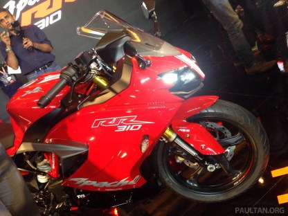 2018 TVS Apache RR 310 launched in India - based on BMW