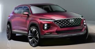 Hyundai Santa Fe fourth generation render 1