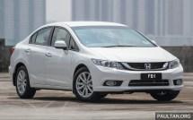 Honda Civic FB plate