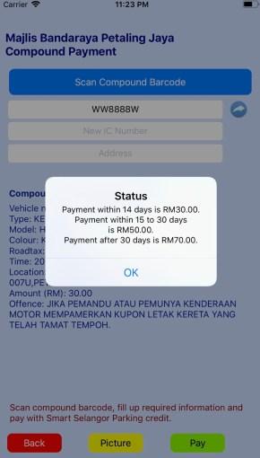Selangor Smart Parking App on iOS-2