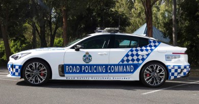 Kia Stinger GT Queensland police patrol car 3