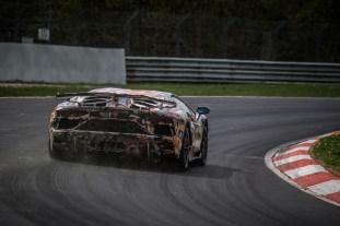 Lamborghini Aventador SVJ Nurburgring record attempt 8