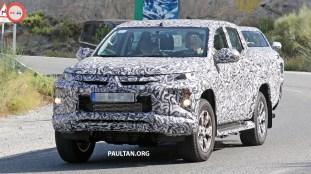 2019 Mitsubishi Triton Facelift Spyshots_4