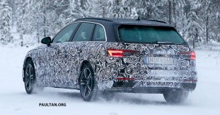 2019 Audi A4 Avant facelift winter test spyshot_11
