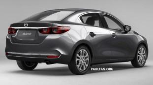 Mazda 2 sedan render 2