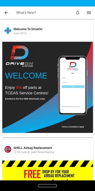 DriveOn by Tan Chong mobile app 4