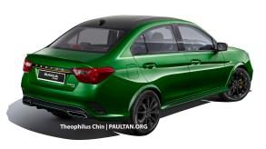 Proton-Saga-R3-Concept-Green-Rear