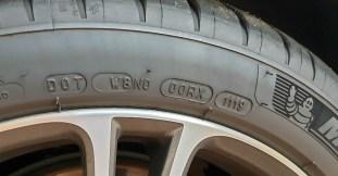 Michelin tyre DOT code 2