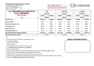 CX-30 Price List WM 181119