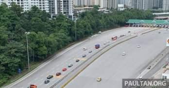 Jalan Duta toll plaza 12pm March 23