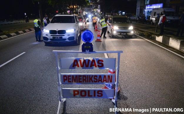 Police roadblock polis Bernama 1