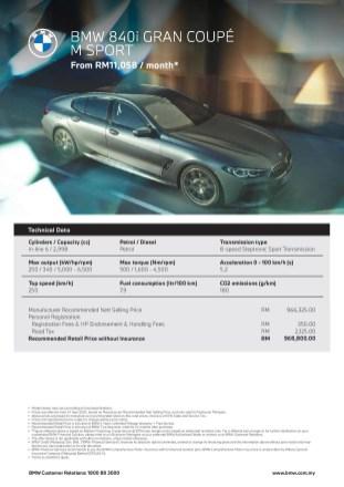 G16 BMW 840i Gran Coupe M Sport Malaysia spec-1