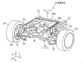 Mazda patent hybrid in-wheel e-motor capacitor 8