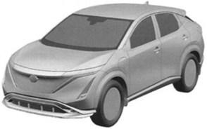 Nissan Ariya patent front 3-4