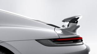 Porsche 911 Turbo S rear wing in Performance Setting