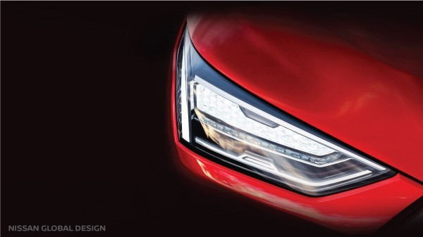 Teaser image of NissanÕs upcoming compact SUV for India