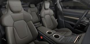 2021 Porsche Taycan Club Olea leather interior, Basalt Black Meranti Brown-2
