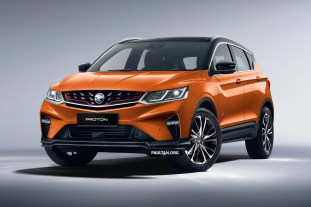 2020 Proton X50 Quarter Front Left_Citrus Orange