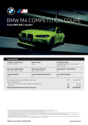G82 BMW M4 Competition Coupe Malaysia spec sheet-1