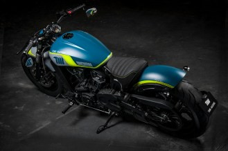 2021 Indian Motorcycles Tank Machine Neon Scout Bobber Sixty - 8