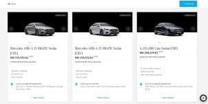 Mercedes A-Class MBM inventory July 2021