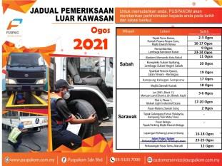 Puspakom Aug 2021 Sabah Sarawak Schedule