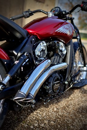 2021 Indian Motorcycle Metz Scout Bobber Red Wings - 37
