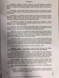 Philippines Exhaust Ordinance 2021-2
