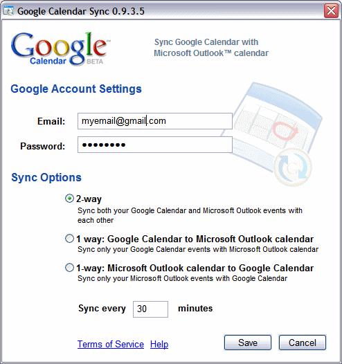 Google Calendar Sync
