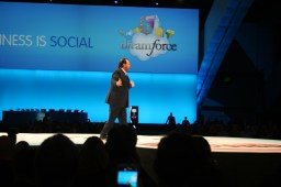 Marc Benioff onstage at dreamforce