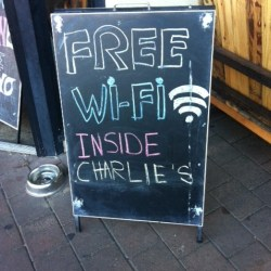 Commoditising cafe Wi-Fi
