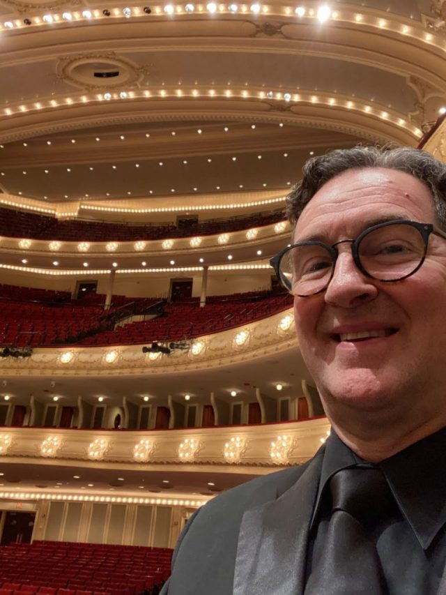 Paul at the CSO looking out at empty seats before a performance