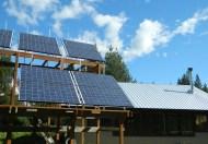 Solar Panels in Summer