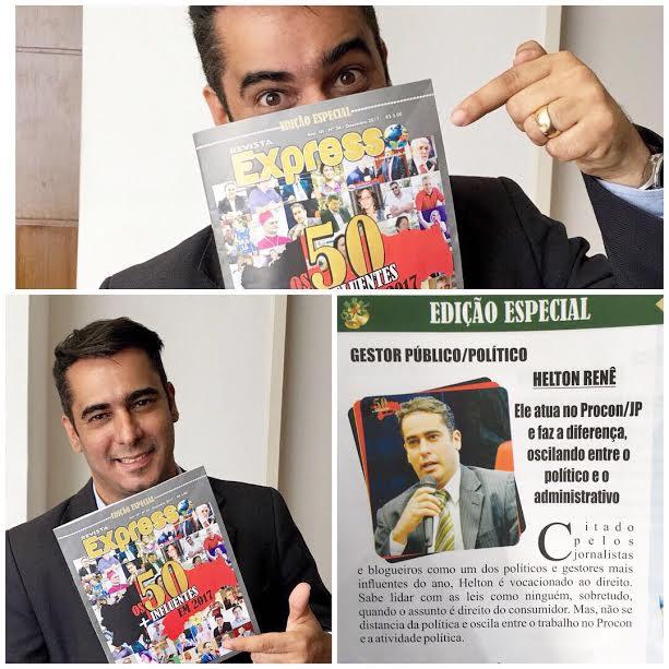 Helton Renê é escolhido entre as '50 personalidades' mais influentes na Paraíba em 2017