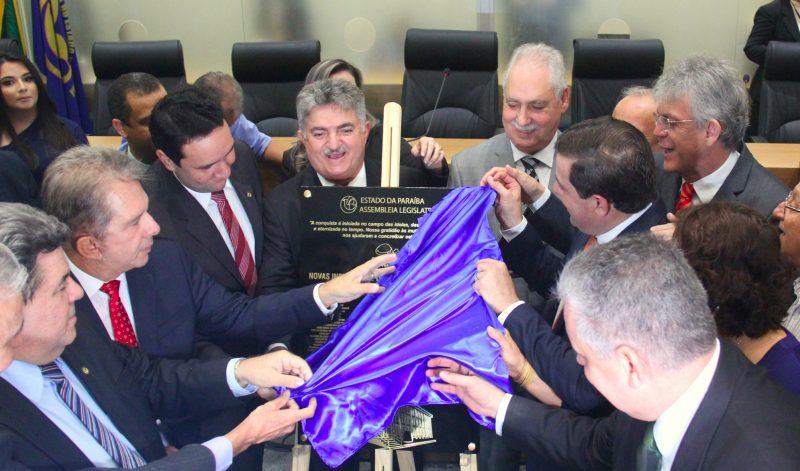 OUÇA: RC prestigia inauguração das novas instalações da ALPB e destaca empenho de Gervásio