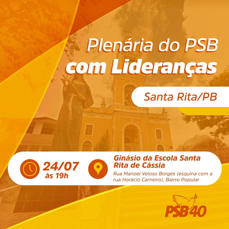 Ao lado de João Azevêdo e Veneziano, Henrique Maroja convoca militância para plenária em Santa Rita
