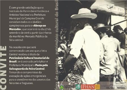 Abraço ao Mercado marca primeiro ano do título de Patrimônio Cultural Imaterial do Brasil para Feira de CG