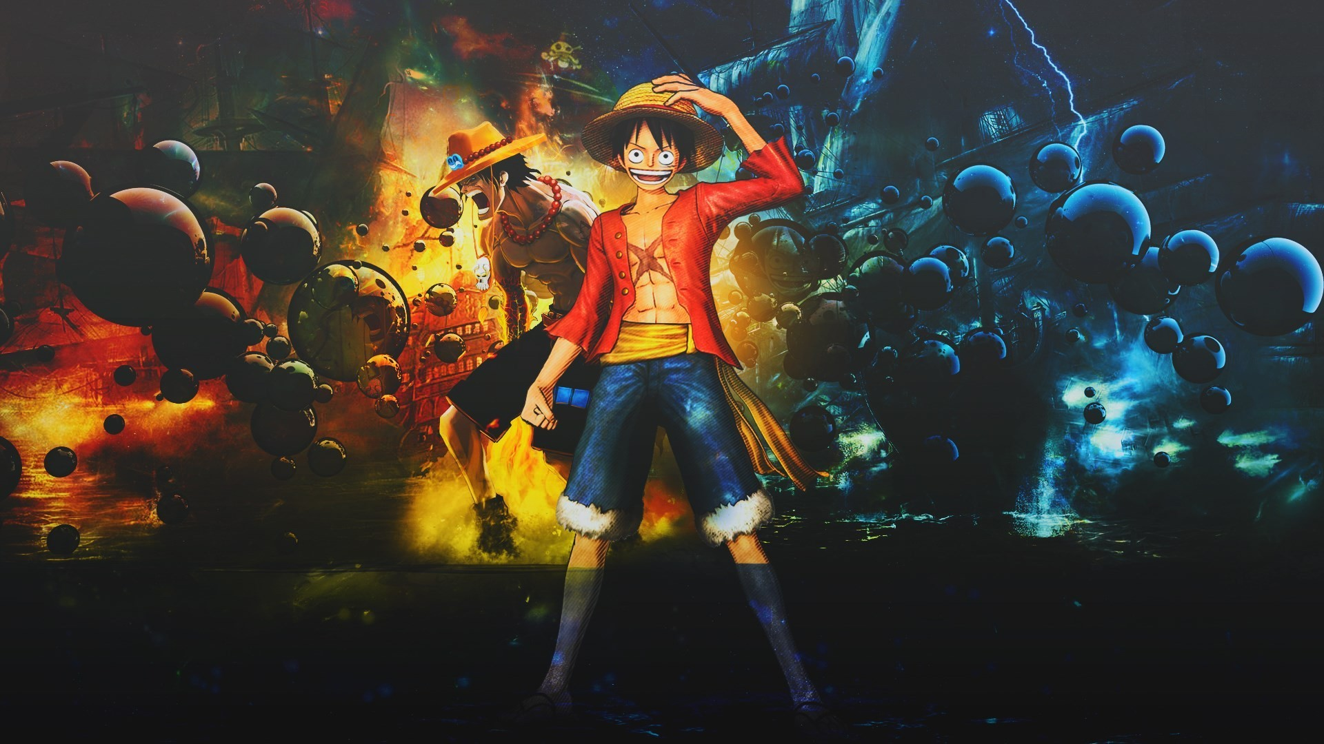 One piece ace wallpapers and background images for all your devices. One Piece Wallpapers 1920X1080 (78+ background pictures)