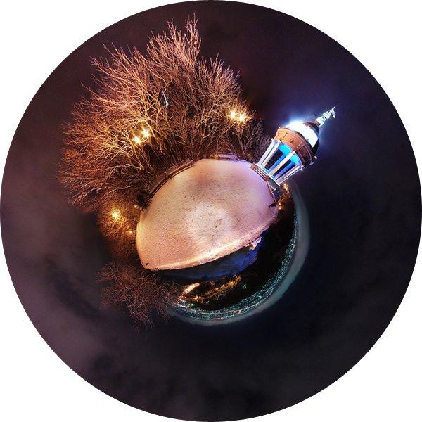 Эолова арфа в Пятигорске, маленькая планета.