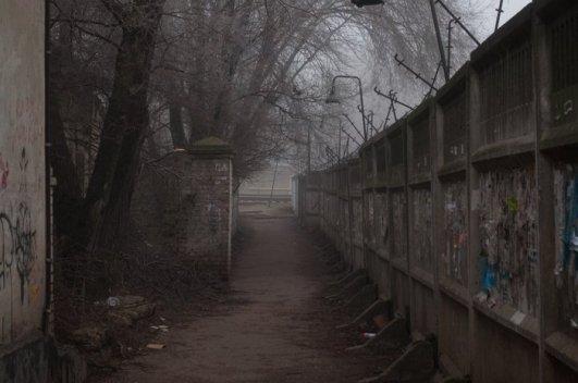 Переулок позади завода Импульс