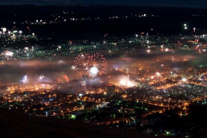 Новогодний салют в Пятигорске