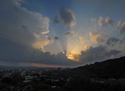 Закат, панорама с горы Горячейё