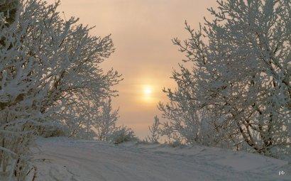 Закат зимой на Машуке